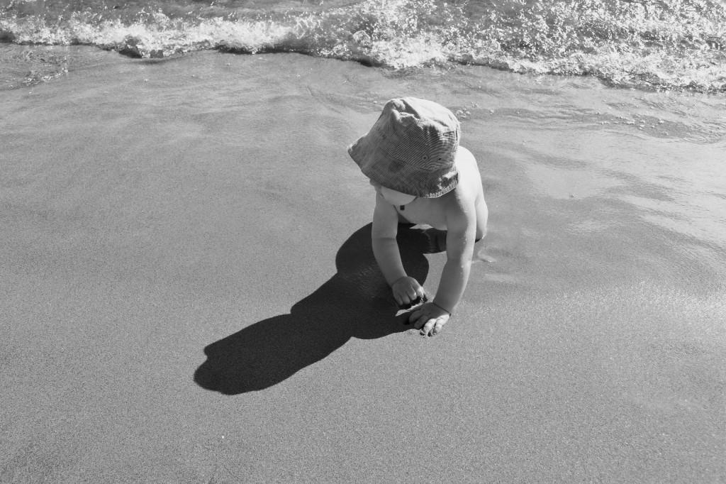 Daniel på stranden